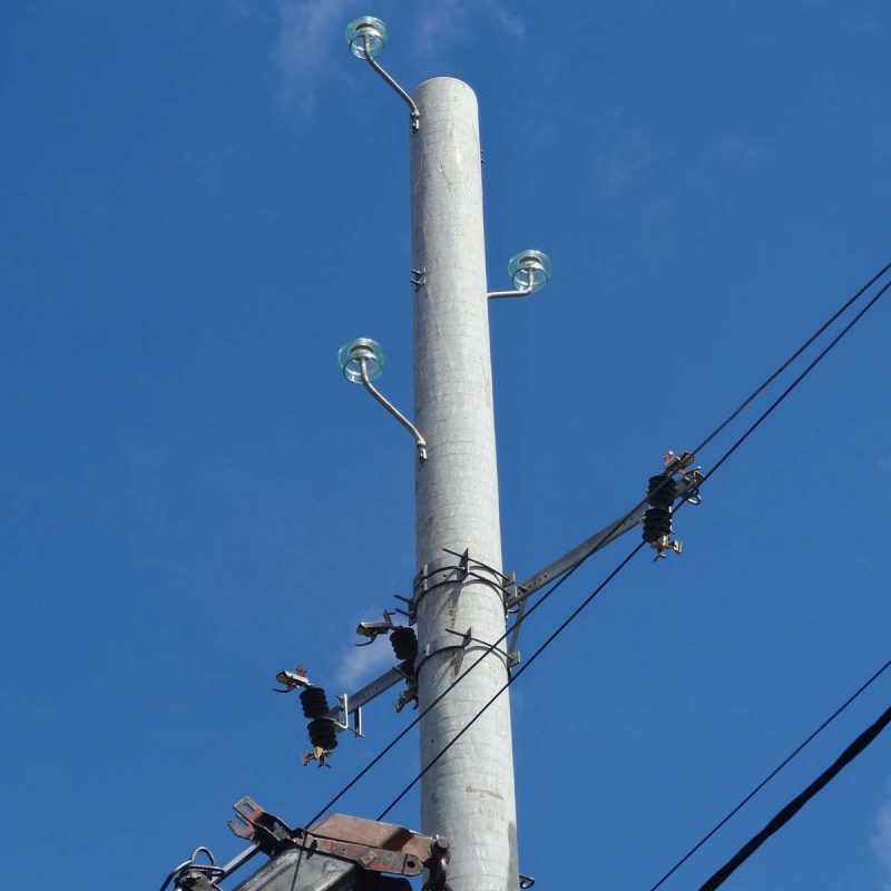 7 New pole alongside old pole ready for rewiring